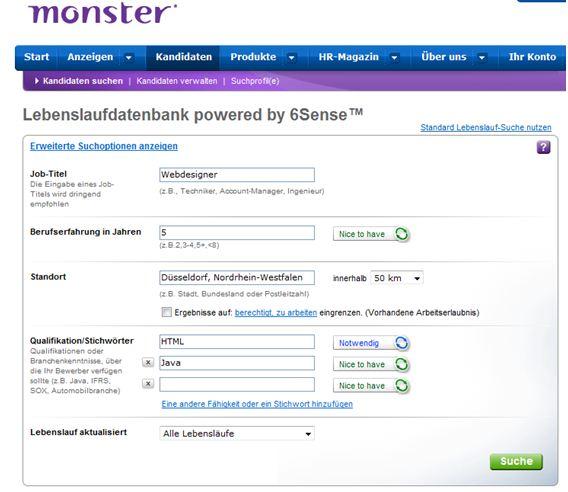Semantische Suche in Monsters CV Datenbank - ICR, Institute for ...