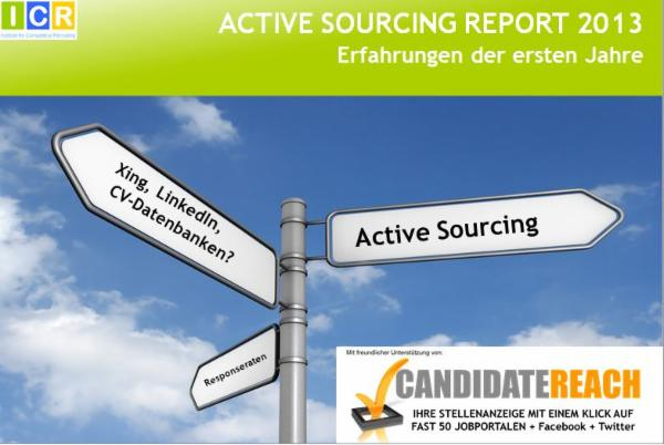 Active Sourcing Report 2013 Icr Institute For Competitive Recruiting