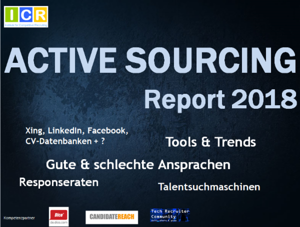 Active Sourcing Report 2018 Icr Institute For Competitive Recruiting